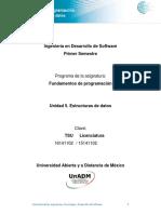 Unidad 5 Estructuras de Datos