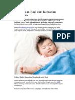 Selamatkan Bayi Dari Kematian Mendadak