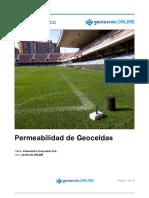 Permeabilidad de Geoceldas