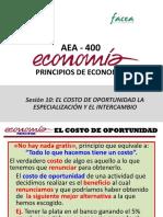 Sesión 10-AEA400 Costo de Oportunidad. Especialización e Intercambio