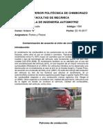 Contaminación de Acuerdo Al Ciclo de Conducción