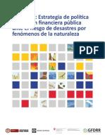 Colombia Estrategia de Política de Gestión Financiera Pública Ante El Riesgo de Desastres Por Fenómenos de La Naturaleza
