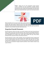 Gejala Penyakit Pneumonia