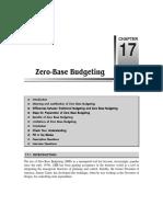 Chapter 17 Zero-Base Budgeting