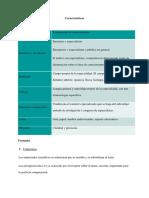 Características texto ceintífico