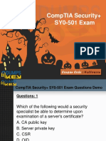 CompTIA SY0-501 Dumps - Secret To Pass In First Attempt