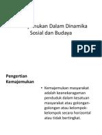 Kemajemukan Dalam Dinamika Sosial Dan Budaya