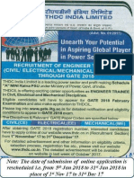 Thdc Gate 2018 Poster