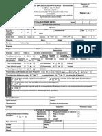 Formato Actualización de Datos Editable