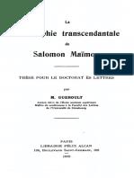Martial Gueroult-La Philosophie Transcendantale de Salomon Maïmon