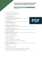 empresas en la Decreto Legislativo Nro. 00861-1996