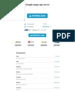 Google Maps API Server