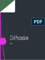 Notes in Civil Procedure 2017