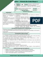 Plan 6to Grado - Bloque 1 Español (2017-2018)