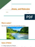 matter atoms and molecules