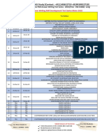 Schedule of All Courses Target 2018 - Shubhra Ranjan IAS Study