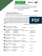 Subiect Si Barem LimbaRomana EtapaI ClasaIV 10-11