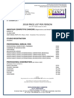 2018 SADF Annual Price List
