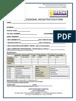 SADF Professional Registration 2018