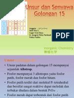 Unsur Senyawa Golongan 15