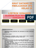 Pembelajaran Ipa Listrik Dinamis Kelas Ix