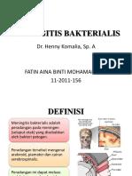 Meningitis Bakterialis PPT