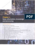 Chapter # 01 Data Information Knowledge and Processing