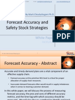 Forecast Accuracy and Safety Stock Strategies
