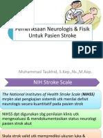 Pemeriksaan Neurologis & Fisik Untuk Pasien Stroke