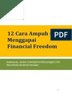Financial Freedom 12 Cara Ampuh Untuk Menggapai Financial Freedom