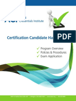 AAMI Credential Institute (ACI) Certification_Candidate_Handbook