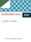 Screening Quiz Answers