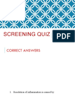 Screening Quiz Answers