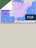 Provincias de España (1) - Mapa Flash Interactivo - Enrique Alonso