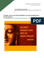 5 Dinge, Die Du Als Nicht-Buddhist Aus Dem Buddhismus Lernen Kannst