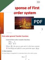4 First Order Response