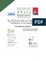 Programación General Consolidada XVIII Encuentro Iberoamericano de Valoración y Gestión de Cementerios Patrimoniales