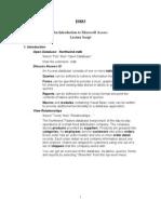 Access Lecture Script