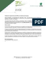 Comunicado de Prensa UPM