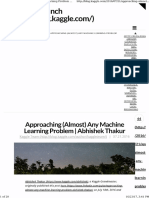 Approaching Almost Any Machine Learning Problem