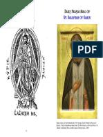 The Prayer Rule of St. Seraphim of Sarov Correct