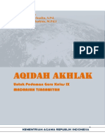 Akidah Akhlak Ix Buku Guru