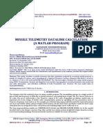 MISSILE TELEMETRY DATALINK CALCULATION  (A MATLAB PROGRAM)