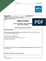 AP YMCA Level 3 Mock Paper- Sports Massage