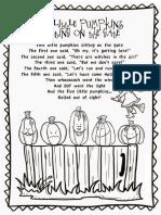 Five Little Pumpkins Sitting on the Gate