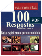 100 Respostas Bíblicas para BAIXO-ESPIRITISMO e PARANORMALIDADE - Édino Melo - FERRAMENTA.pdf