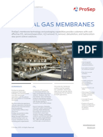Gas Membranes Technology Sheet Letter