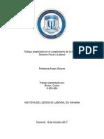 Historia Del Derecho Laboral en Panama