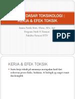 Prinsip Dasar Toksikologi (Kerja & Efek Toksik)