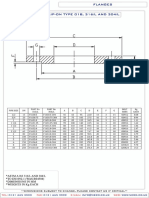 PN163 Slip on Flange Dimensions